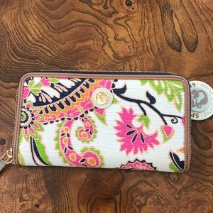 Spartina 449 Wallet High Ebb NWT missing wristlet